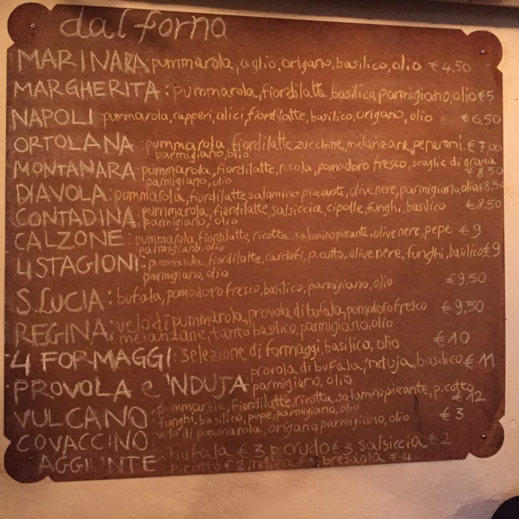 Da Gherardo menu
