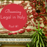 Post #1 Becoming Legal in Italy